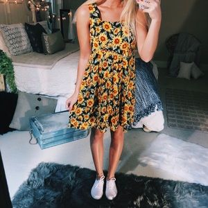 sunflower babydoll shift dress
